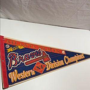 Atlanta Braves 1992 western div. champs pennant